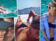 Ilary Blasi in barca