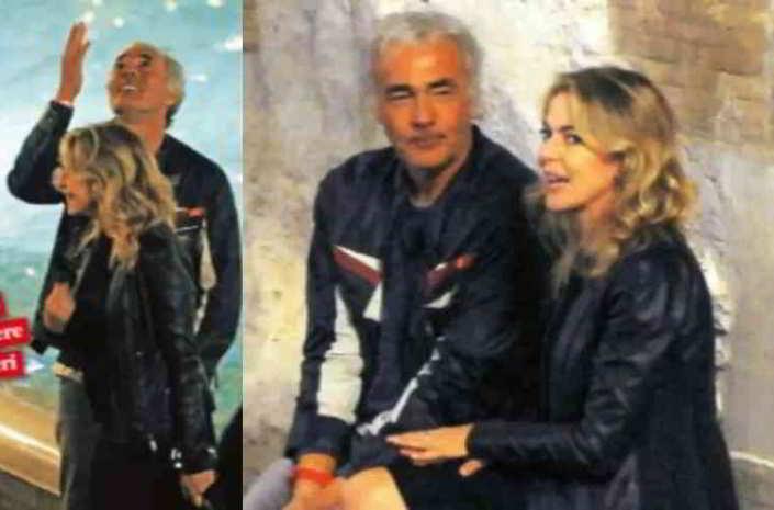 Claudia Gerini e Massimo Giletti